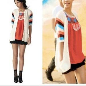 Tracy Feith short sleeve button up sweater